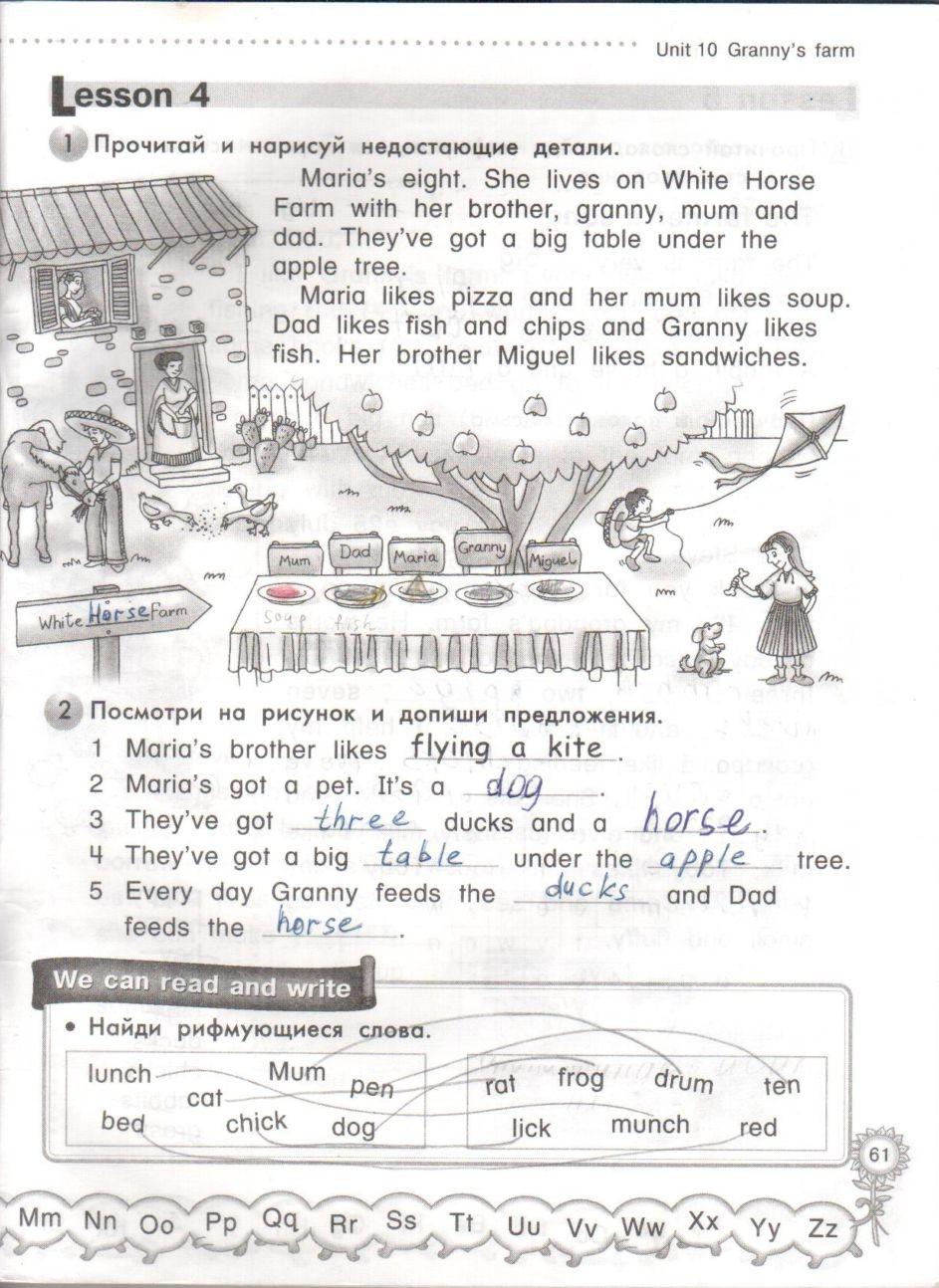 по учебнику класс домашние 4 готовые задания millie